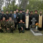 Д. Ручица. Открытие плиты с именами погибших казаков. 12 сентября 2015 года
