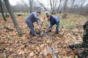 Волонтёры за благоустройством немецкого захоронения Первой мировой войны в деревне Дворчаны Поставского района-2