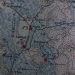 Выкопировка из карты с отмеченными воинскими захоронениями у д. Слобода