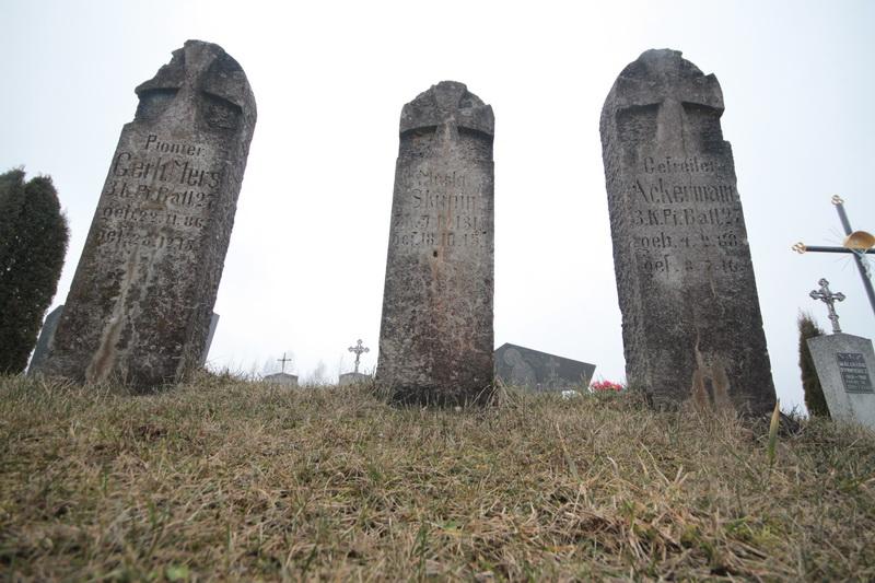 Немецкое кладбище Первой мировой войны у деревни Большая Олься Поставского района-4