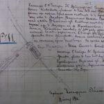 Кроки могилы Копытова Ивана Семеновича на военном кладбище у д. Муляры. Схема из РГВИА.