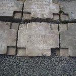 Надгробия, выложенные на центральной аллее. 2009 г.