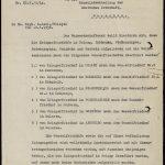 Польский документ от 31 октября 1938 г., подтверждающий перенос останков немецких военнослужащих на кладбище у д. Муляры.