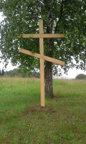 Общий вид воинского кладбища у д. Слобода